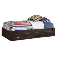 """13"""" Traditional Twin Platform Bed in Cinnamon Cherry"""
