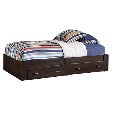 13u0026quot; Traditional Twin Platform Bed In Cinnamon Cherry