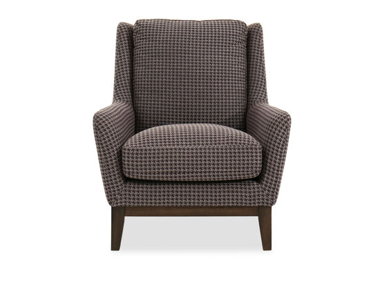 """Houndstooth Patterned Casual 33"""" Chair in Brown"""