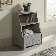 MB Home Orchard Gray Accent Bookcase