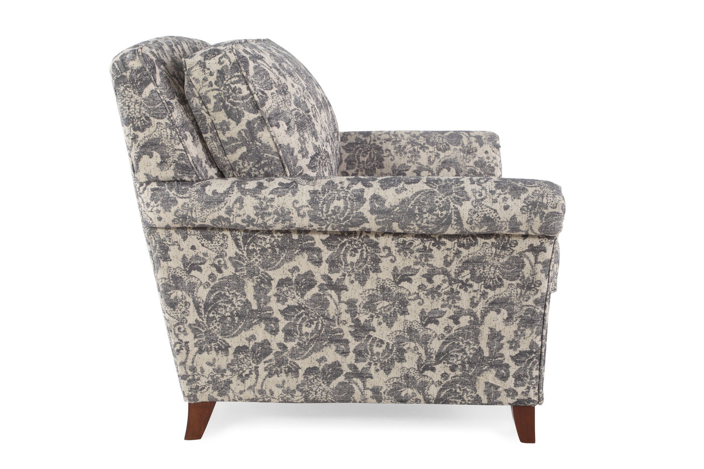 floral patterned traditional 39 chair in gray mathis brothers furniture. Black Bedroom Furniture Sets. Home Design Ideas