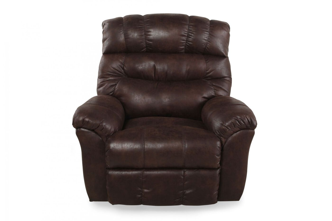 Contemporary 46 Quot Rocking Recliner In Dark Russet Sable