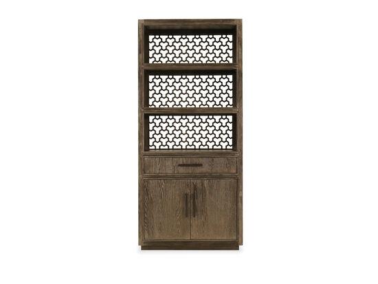 Two-Door Casual Bookcase in Oak