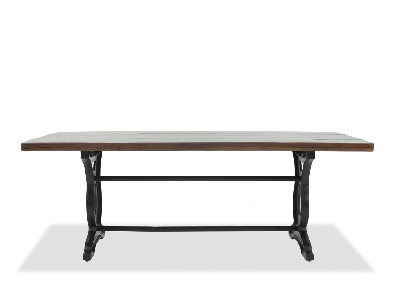 Casual 40 Solid Acacia Rectangular Dining Table In Dark