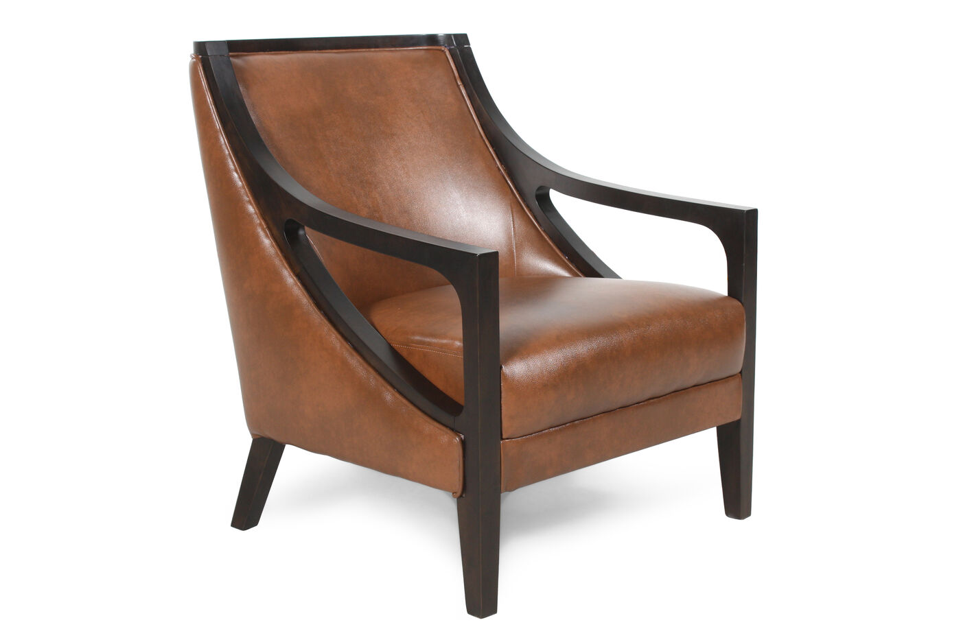 Saddle Brown Leather Accent Chair Chairs Amp Seating