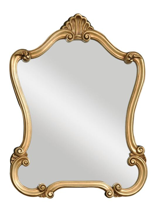 "35"" Scrolled Frame Mirror in Gold"