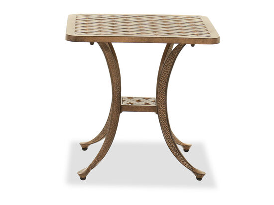Aluminum End Table in Brown