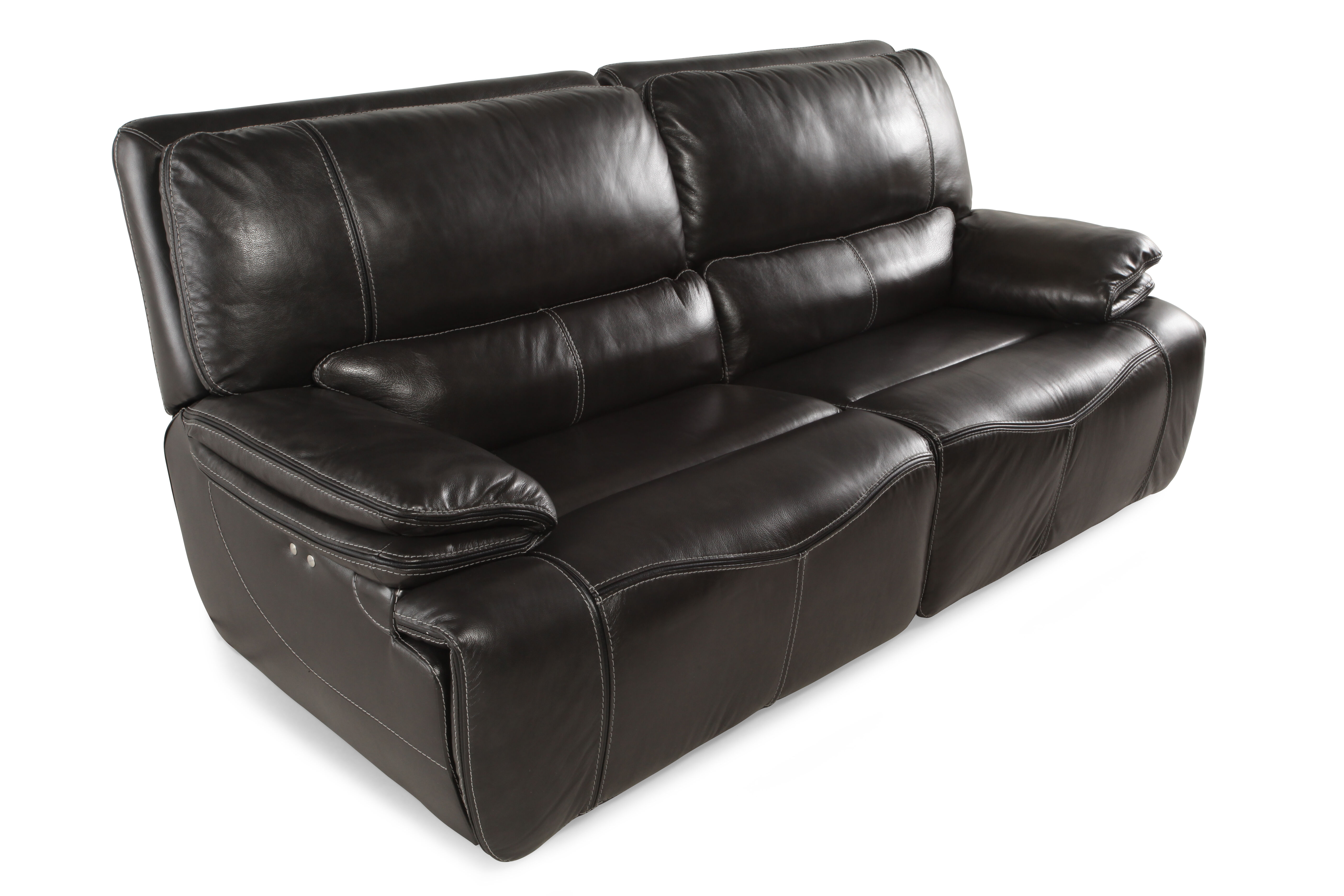 Power Reclining Leather 43u0026quot; ...