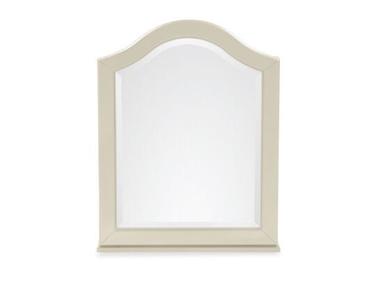 Transitional Youth Vanity Mirror with Adjustable Shelves in Silver