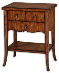 Three-Drawer End Table in Warm Old Barn