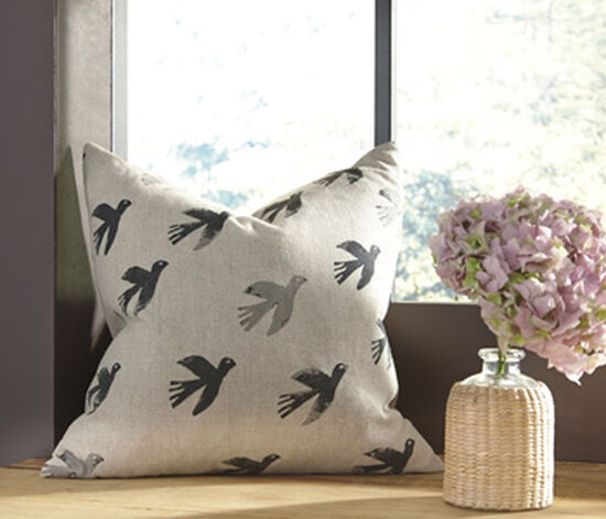 Ashley Draven Gray 20 x 20 Pillow Cover