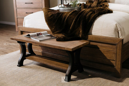 "Casual 46"" Bed Bench in Beige"