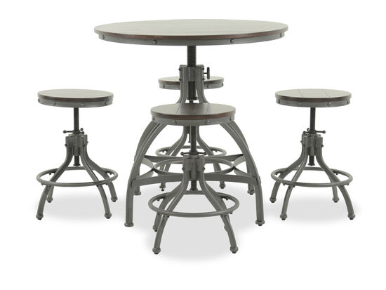Five-Piece Casual 36'' Counter Dining Set in Dark Bronze