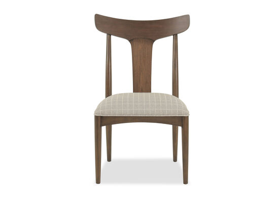 """Mid-Century Modern 37.5"""" Splat Back Side Chair in Walnut"""