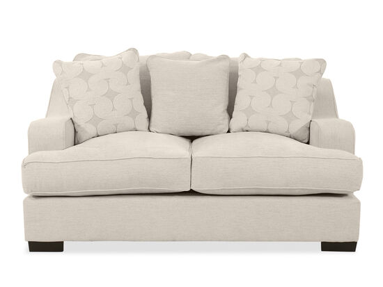 """Straight Arm Casual 71"""" Loveseat in Beige"""