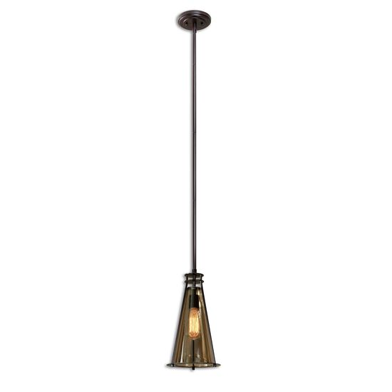 Mini Tinted Glass Pendant Light in Cognac