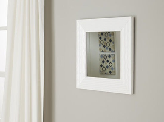Ashley Odelyn White Accent Mirror