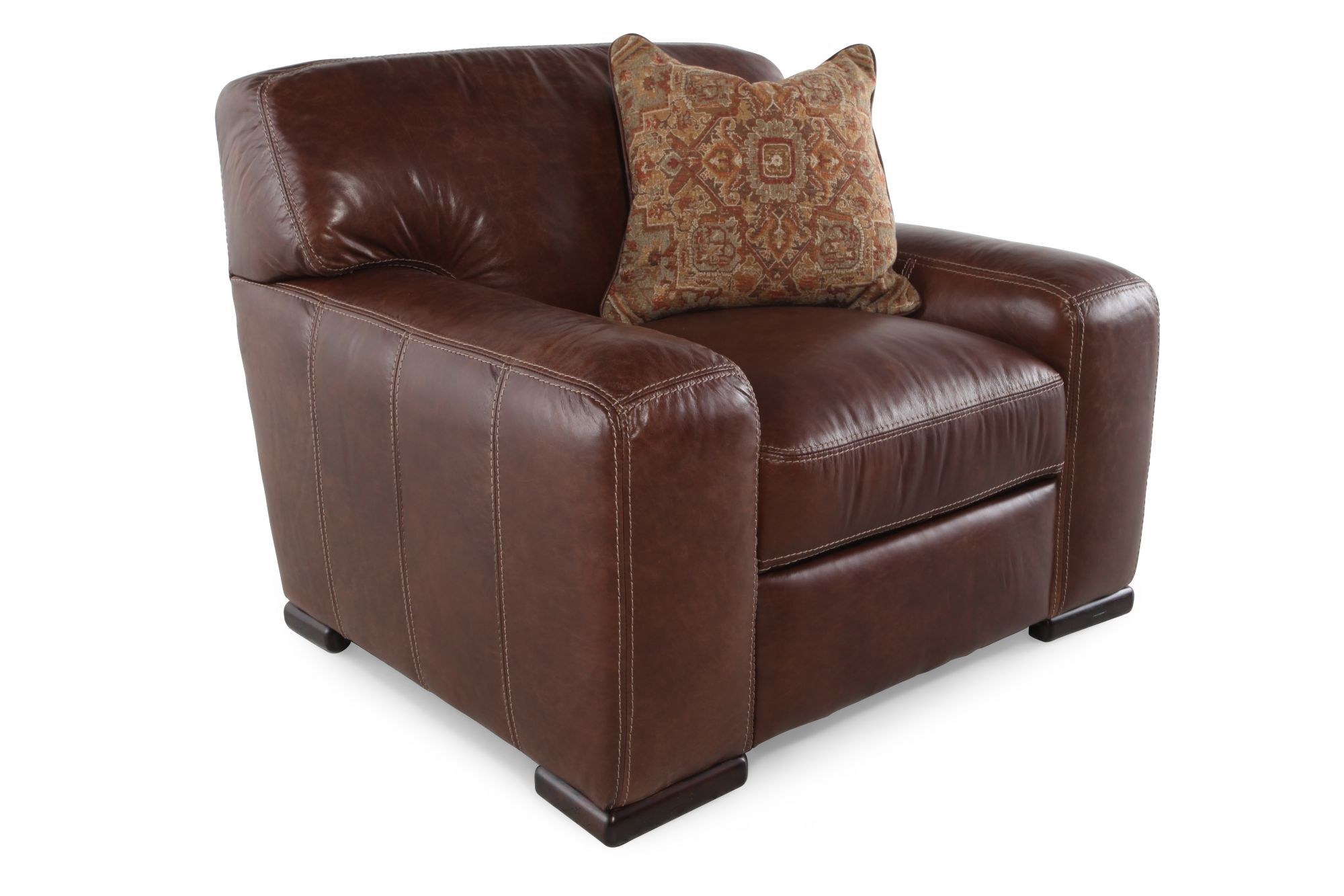 Track Arm Leather Chair In Tobacco