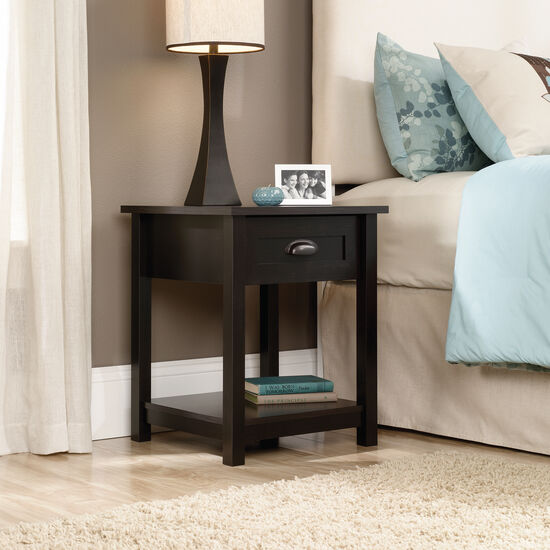 "24"" Traditional Open-Shelved Nightstand in Estate Black"