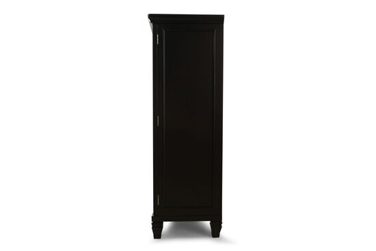 """66"""" Six-Drawer One-Door Casual Chestin Black Paint"""