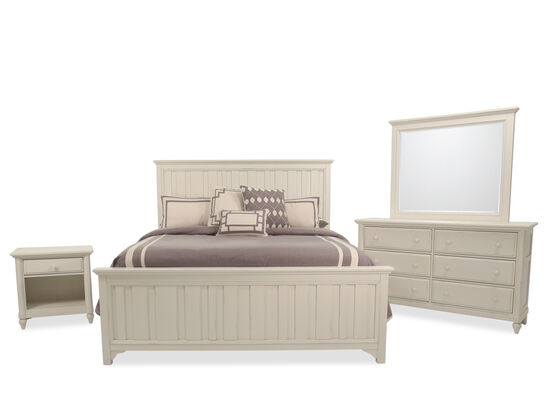 Four-Piece Casual King Bedroom Set in Chalk