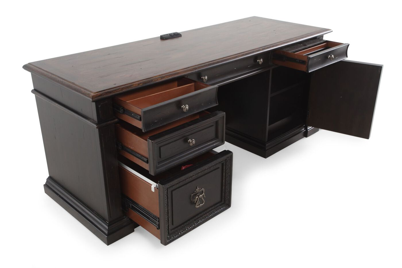 furniture desks home office credenza table. 74\u0026quot; Traditional Five-Drawer Computer Credenza Furniture Desks Home Office Table