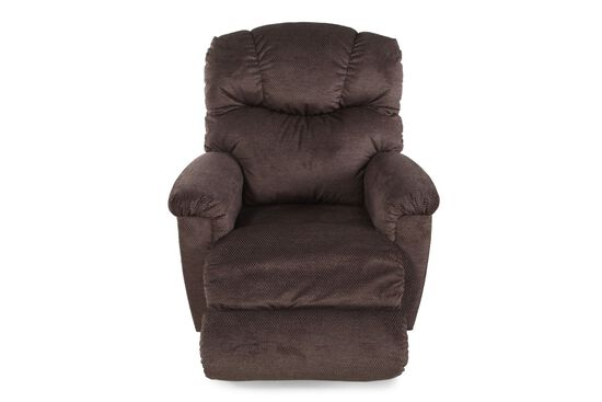 """Textured Contemporary 38"""" Recliner in Brown"""
