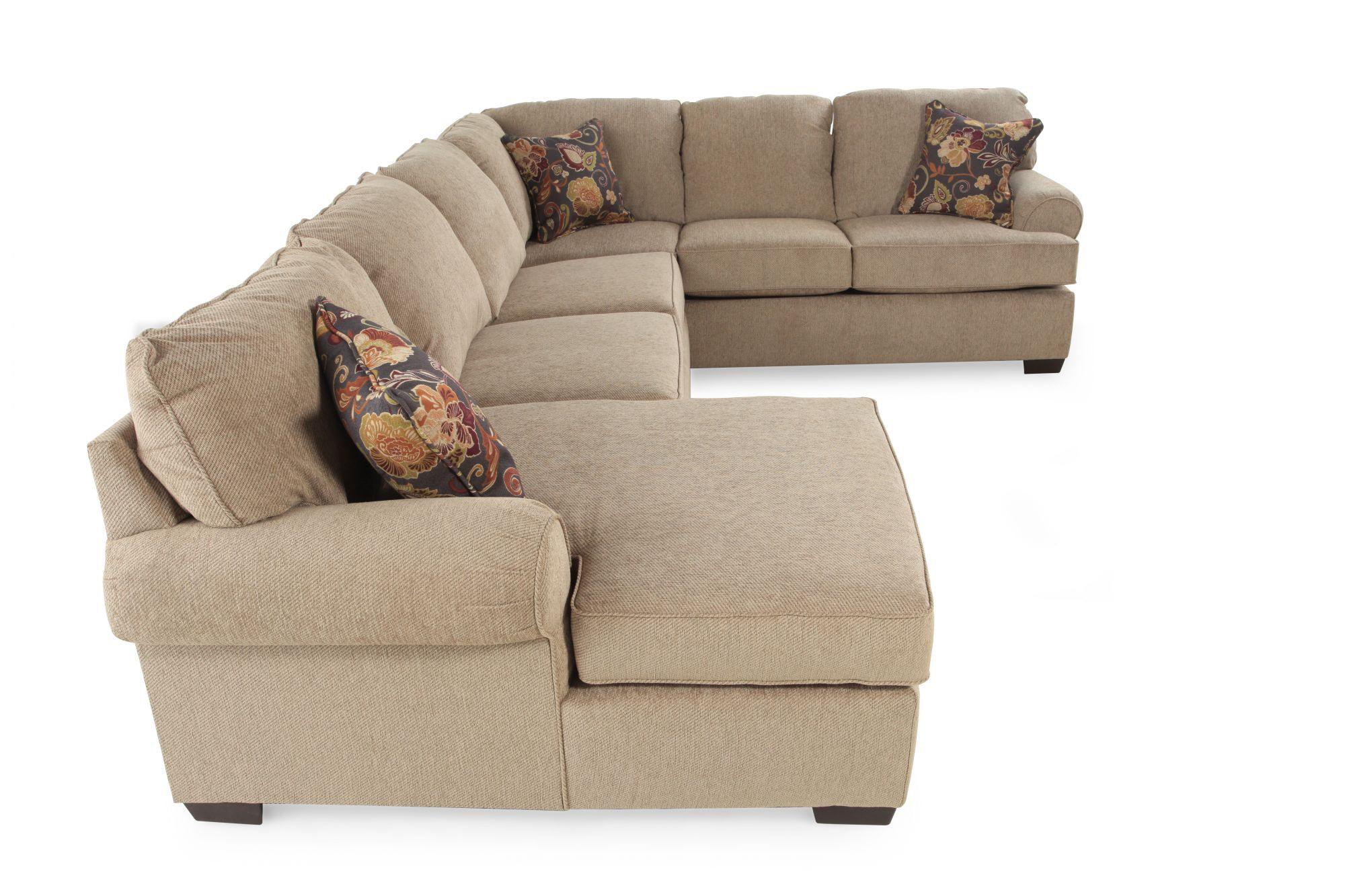 Casual 135 Quot Sectional In Medium Brown Mathis Brothers Furniture. Tremendous  Comfortable Couch.
