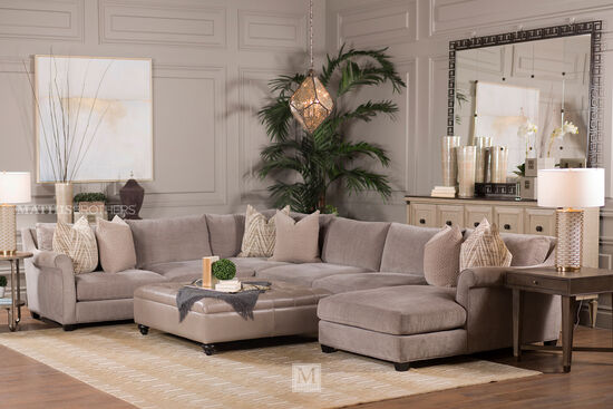 Jonathan louis shearson four piece sectional mathis for Brother v brother living room