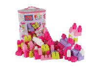 Mega Blocks Pink 80-Piece Building Bag