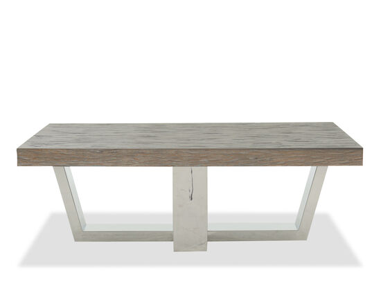 Rectangular Casual Cocktail Table in Grey Pearl