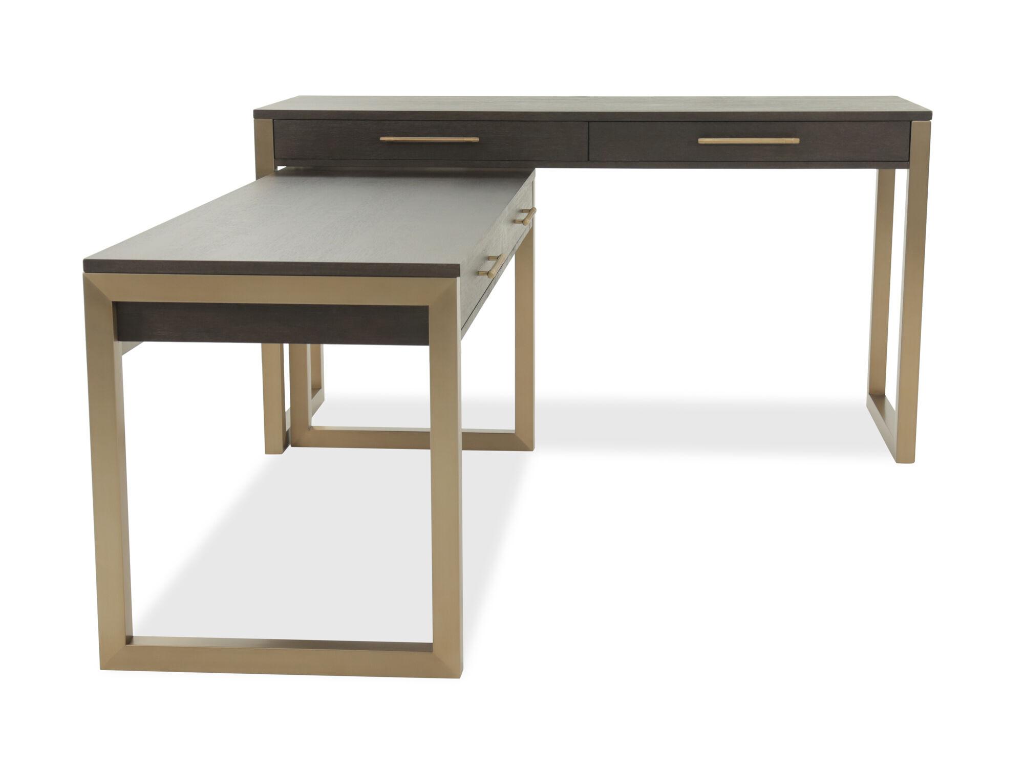 Hooker Curata Brown Two Piece Desk
