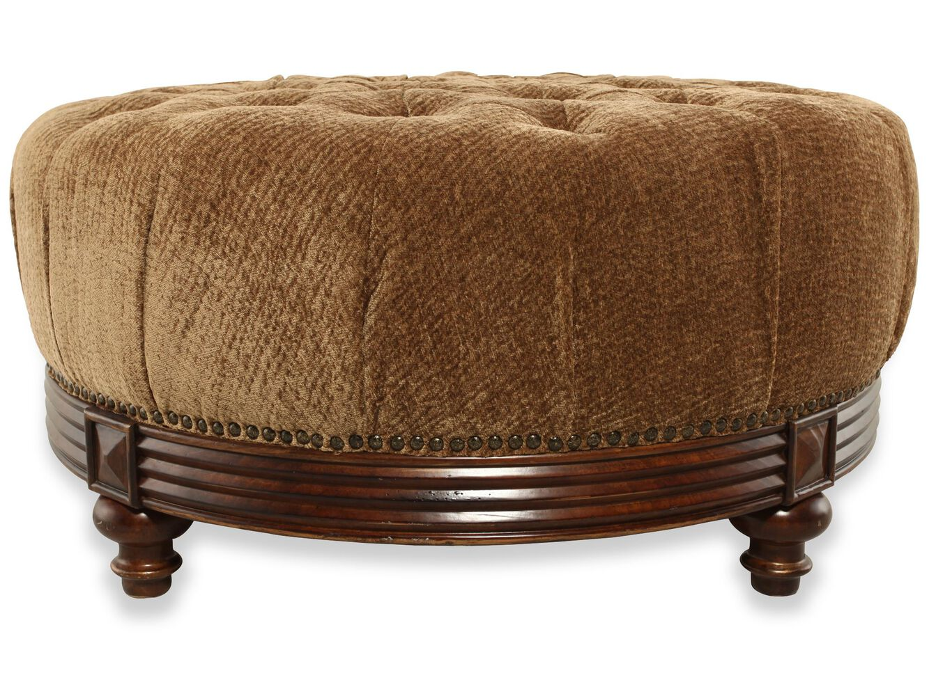 Images On Tufted Traditional 42 Ottoman In Brown