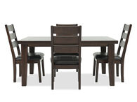 Five-Piece Casual Dining Set in Dark Brown