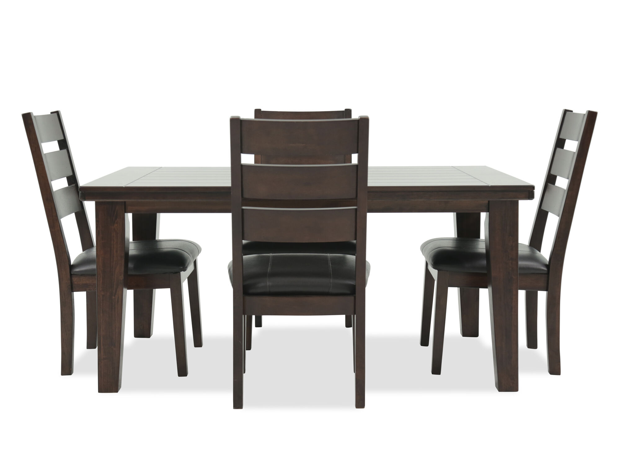 Images Five Piece Casual Dining Set In Dark Brown Five Piece Casual Dining  Set In Dark Brown