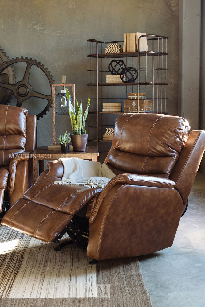 Transitional 36 Quot Power Recliner With Adjustable Headrest