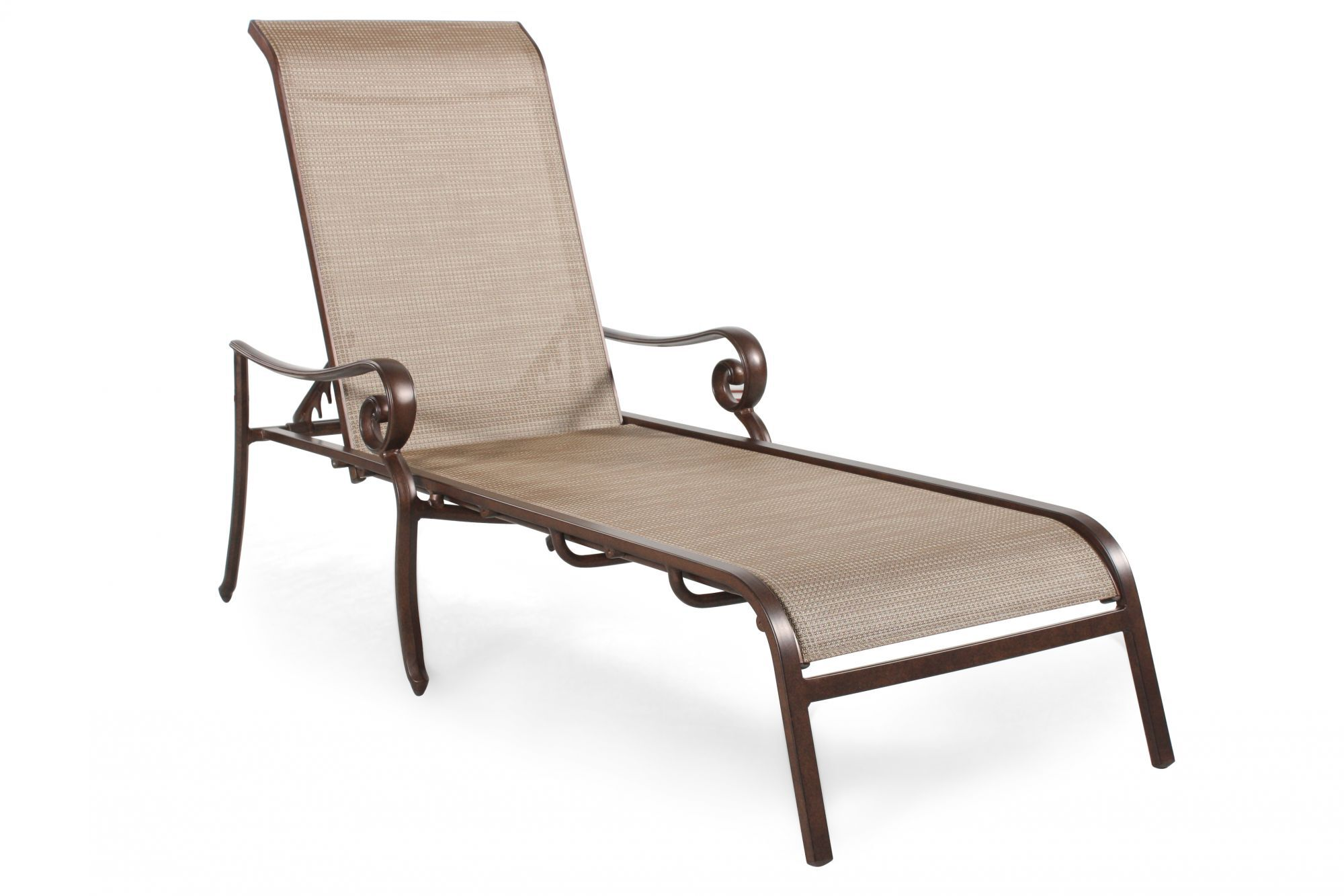Sling Chaise Lounge Outdoor Part - 48: Agio Burgandy Sling Chaise Lounge