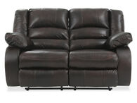 Ashley Levelland Cafe Leather Brown Reclining Loveseat