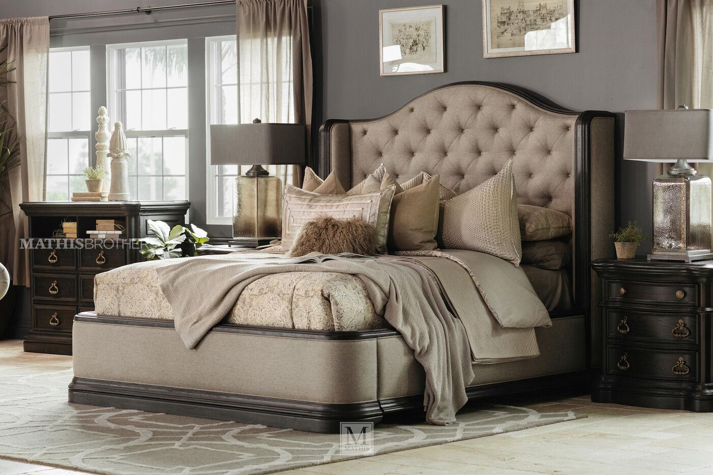 Four Piece Refined Romantic Luxury Bedroom Set in Brown ...