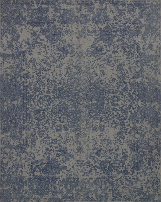 """Traditional 2'-3""""x3'-9"""" Rug in Blue"""