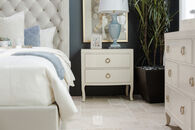 "30"" Glam Two-Drawer Nightstand in Alabaster"