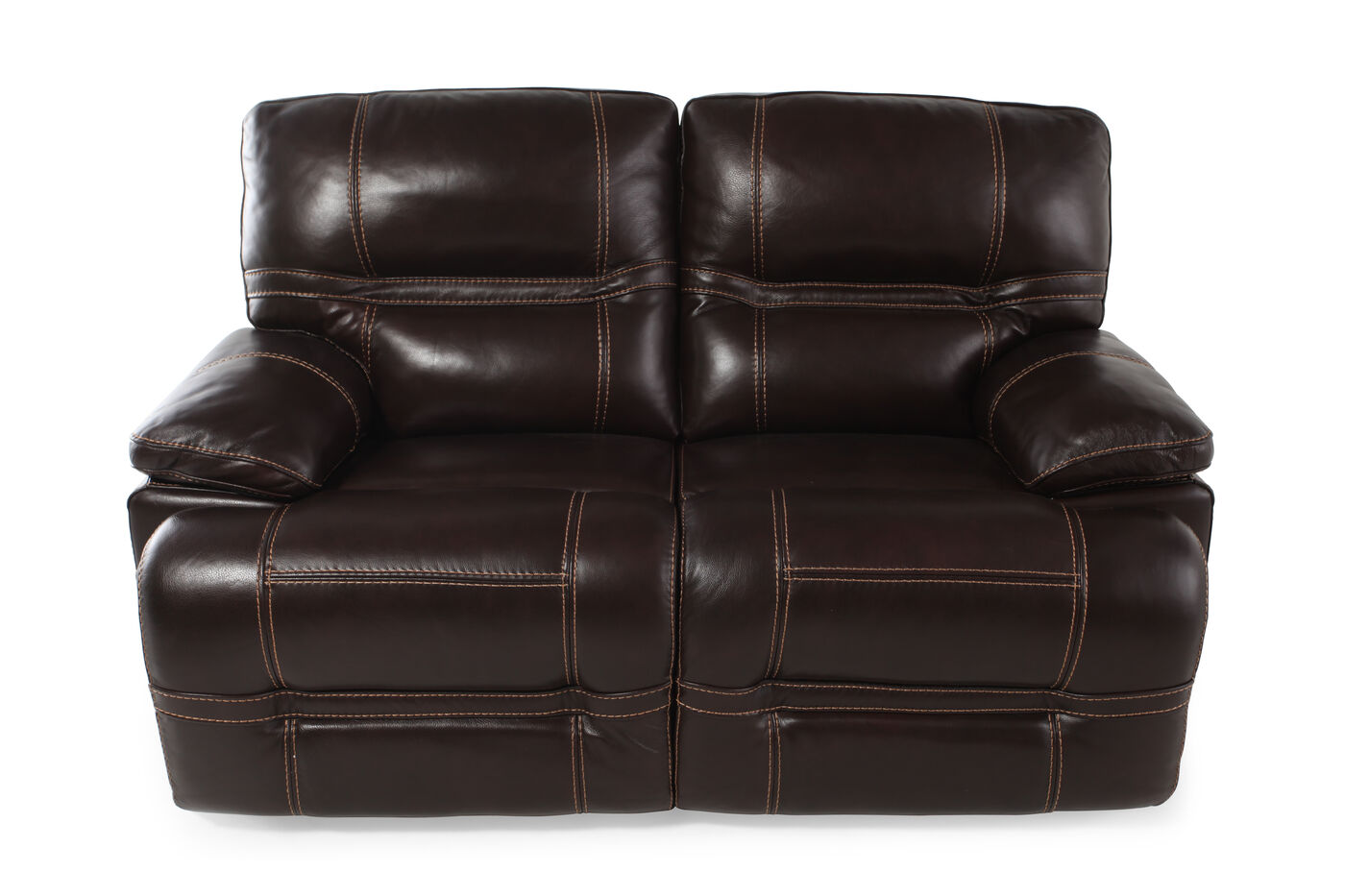 Power reclining contemporary 66 loveseat in dark brown for Furniture 66 long lane liverpool