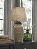 Ashley Dargiana Beige Ceramic Table Lamp