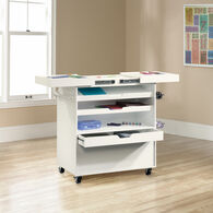 MB Home Office Central Soft White Craft Cart