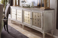 Hooker Arabella White Four-Door Credenza