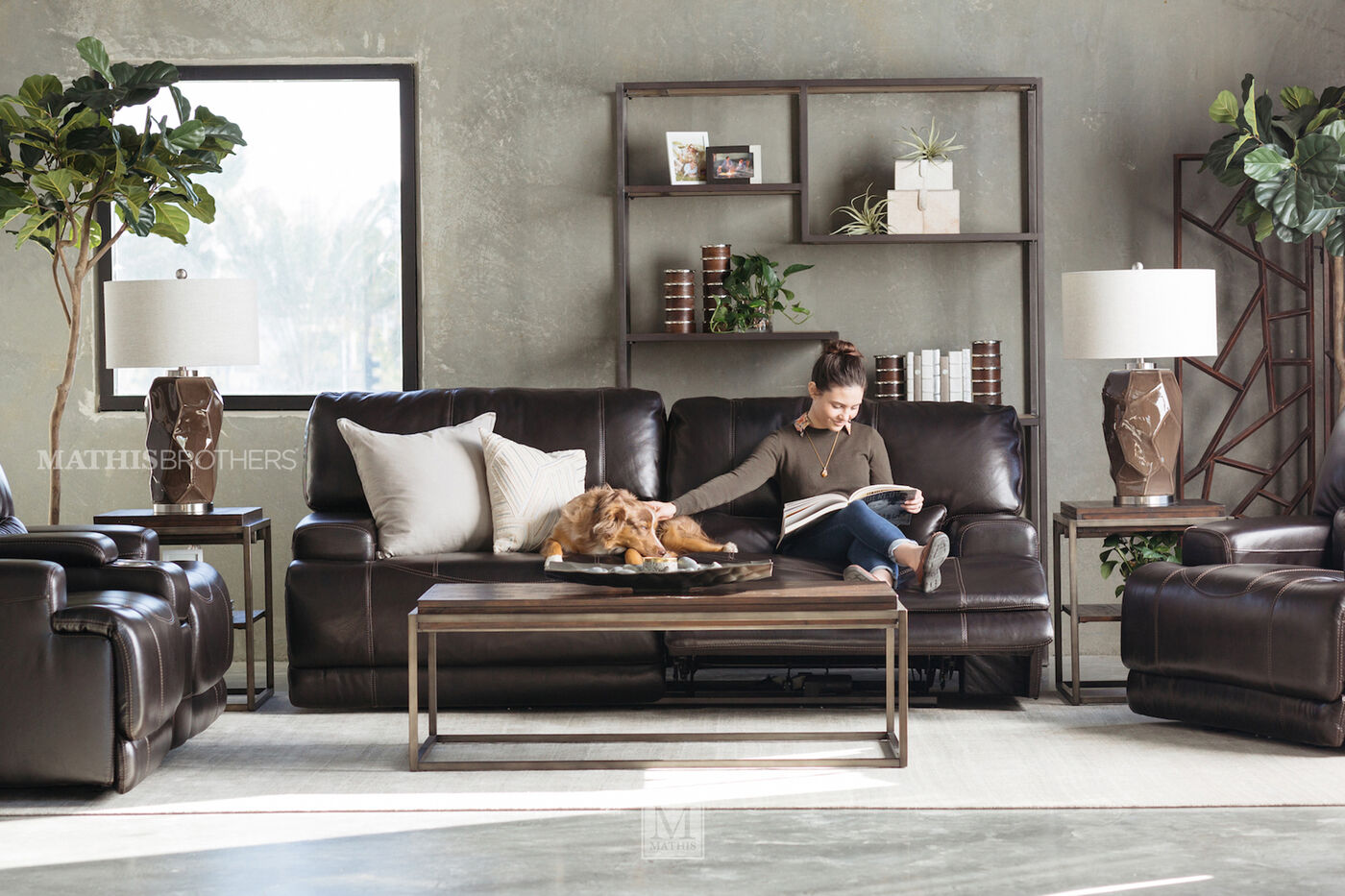 Power Reclining Traditional Leather 80 Loveseat In Medium Black Mathis Brothers Furniture