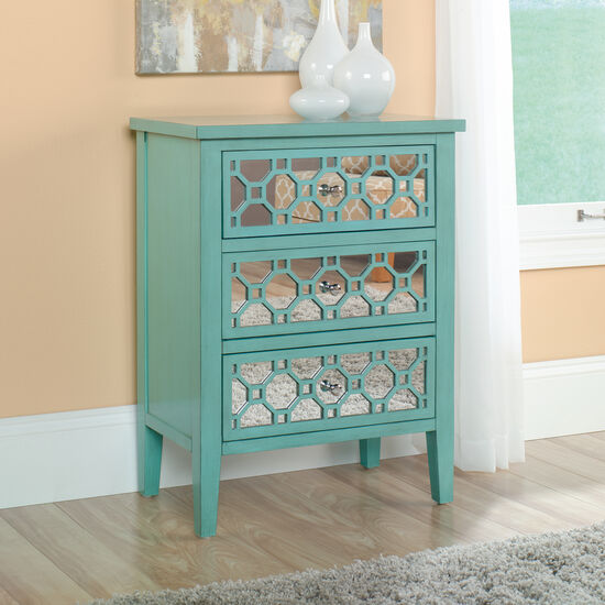 MB Home Malibu Seafoam Green Accent Storage Chest