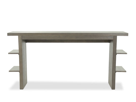 "Contemporary 20"" Counter Table with Shelves in Gray"