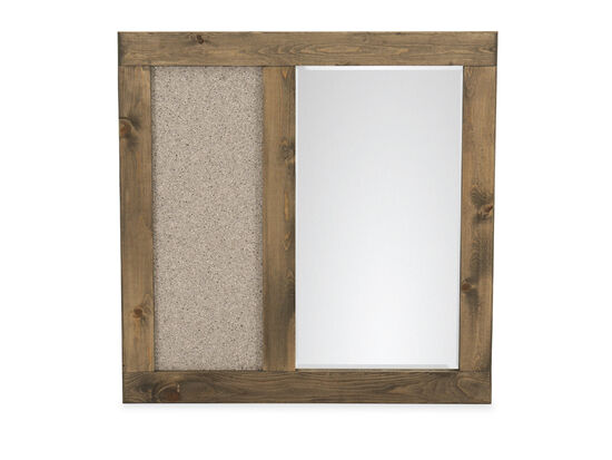 Contemporary Youth Landscape Mirror in Brown