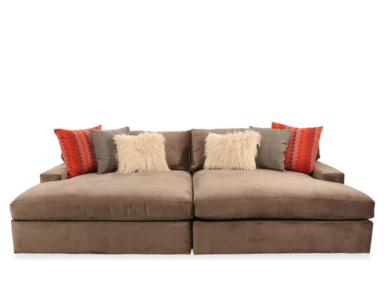 Two-Piece Contemporary Sectional in Brown